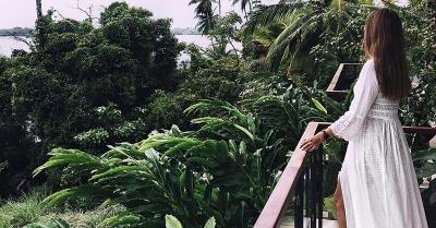 phineloves Sri Lanka balcony white dress