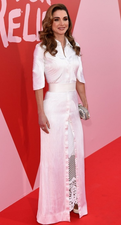 Queen Rania of Jordan Fashion For Relief - Red Carpet Arrivals - The 70th Annual Cannes Film Festival