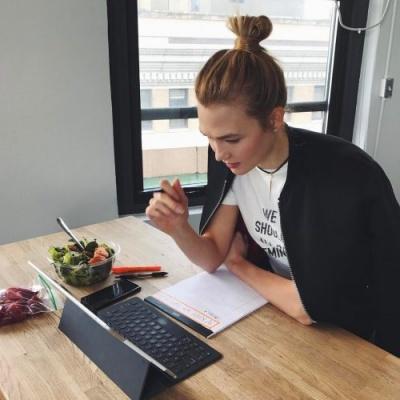 Karlie Kloss coding