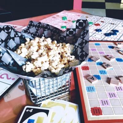 popcorn boardgames lounge by aurum restaurant jeddah