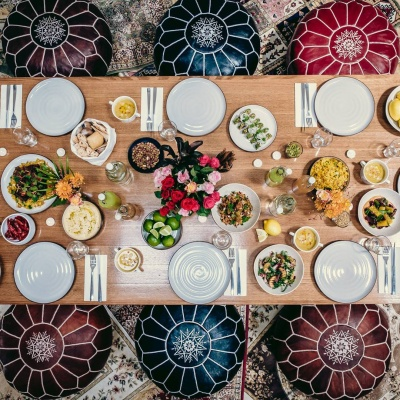 ramadan table setting the dish catering company