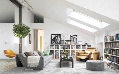 Scandi Home Decor Attic Living Room