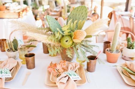 cactus wedding table centerpiece