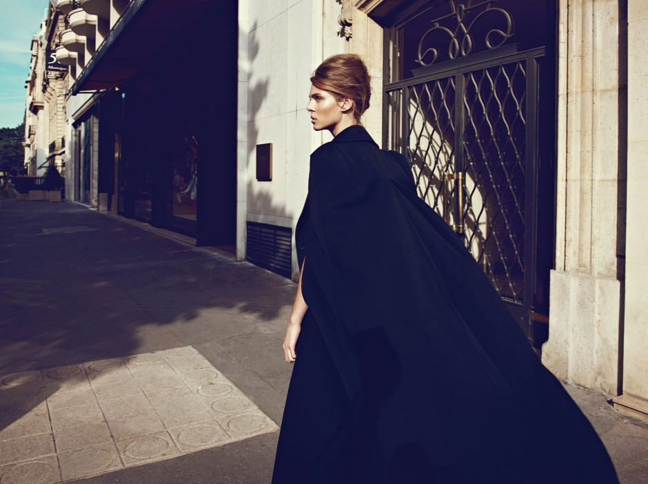 Dress and cape by ELIE SAAB