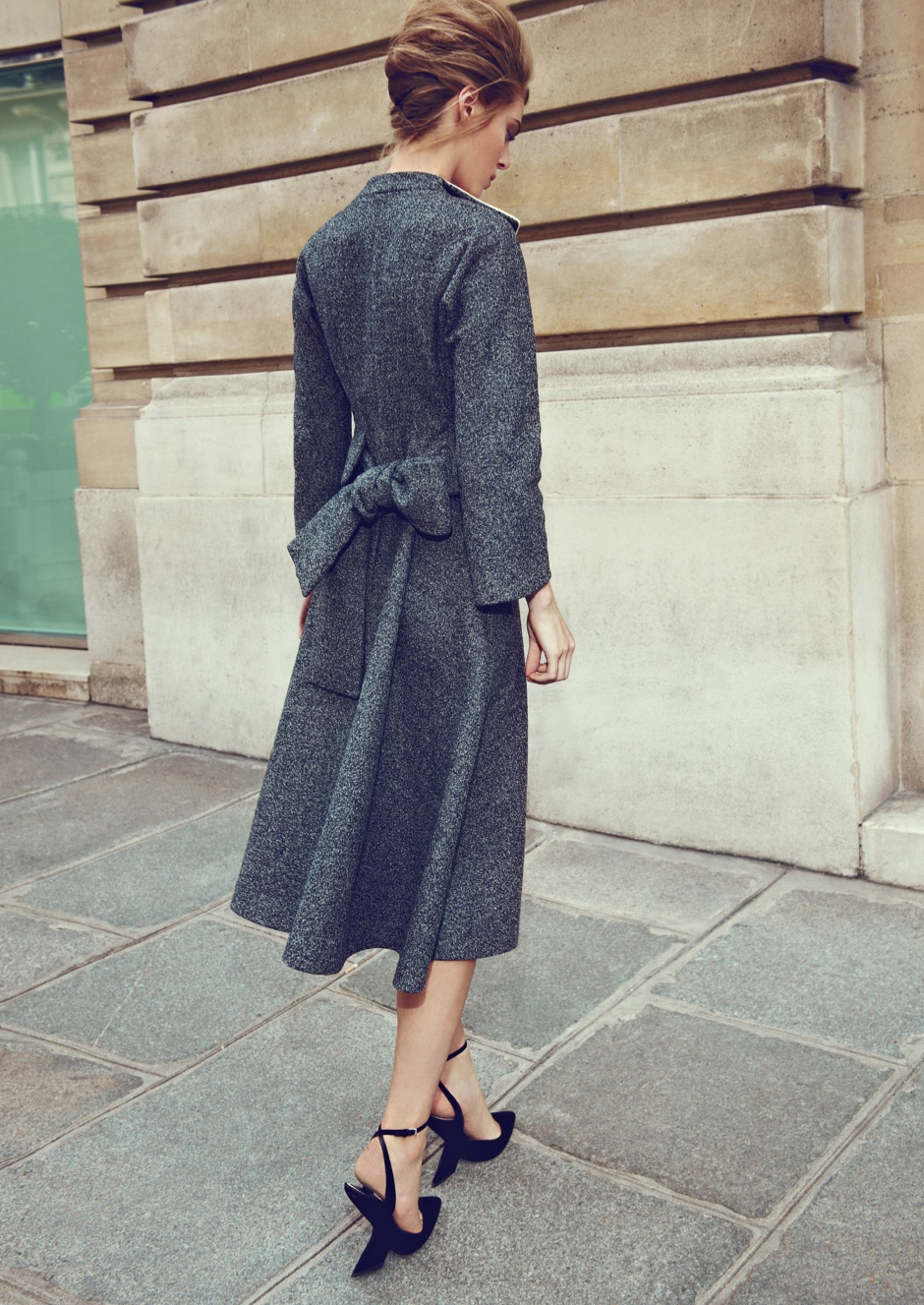 Coat and shoes by DIOR