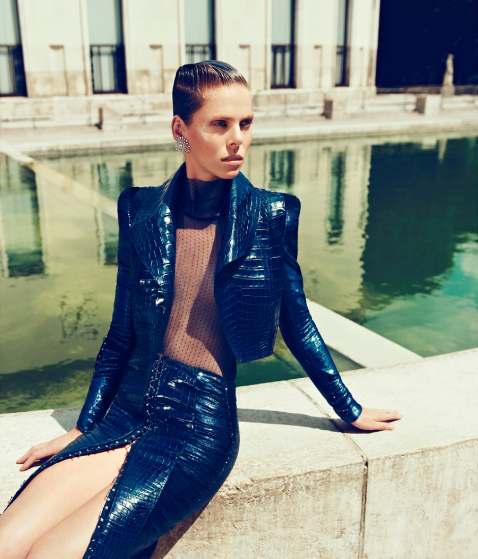 Body, skirt, and jacket by ATELIER VERSACE