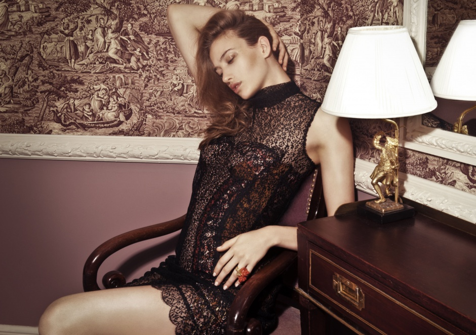 Underdress and dress by BOTTEGA VENETA; ring by DIOR JOAILLERIE