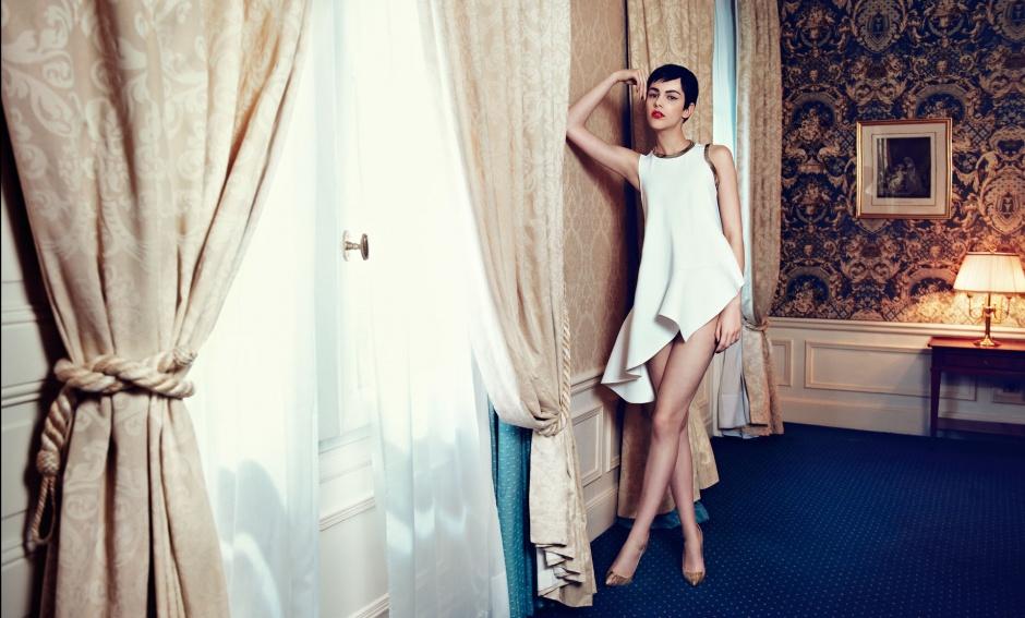 Top by MASHA MA Shoes by Christian Louboutin