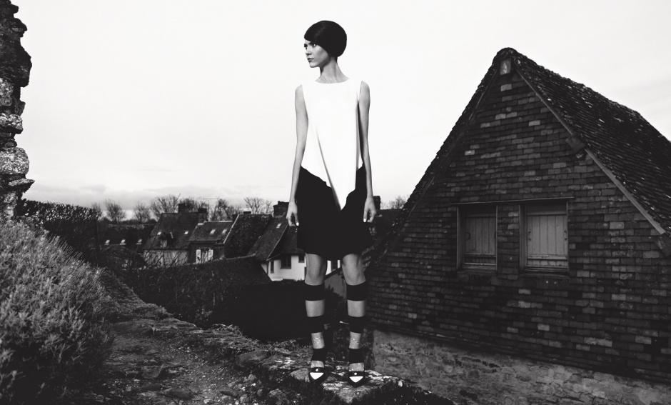 Dress by Amaya Arzuaga Socks by Marryshow studio Shoes by Christian Louboutin