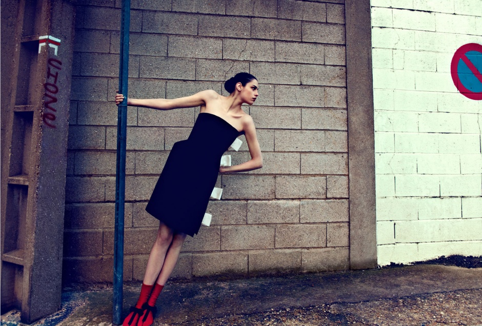 Dress by LANVIN Socks by PRADA