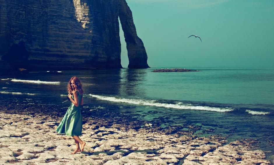 Dress and bag by Giorgio Armani