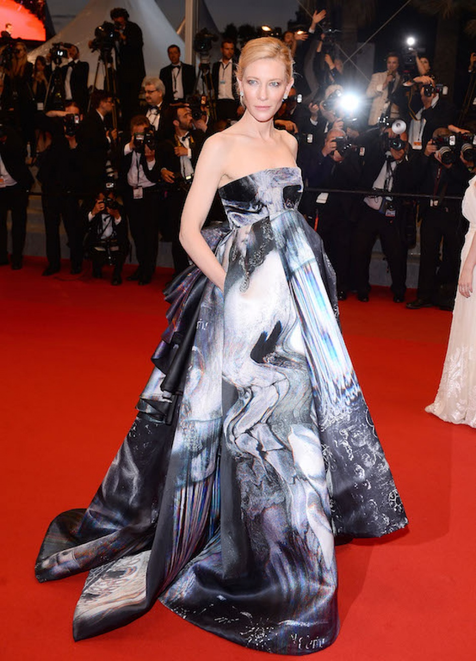 Cate Blanchett wearing a Giles gown at the Cannes Film Festival