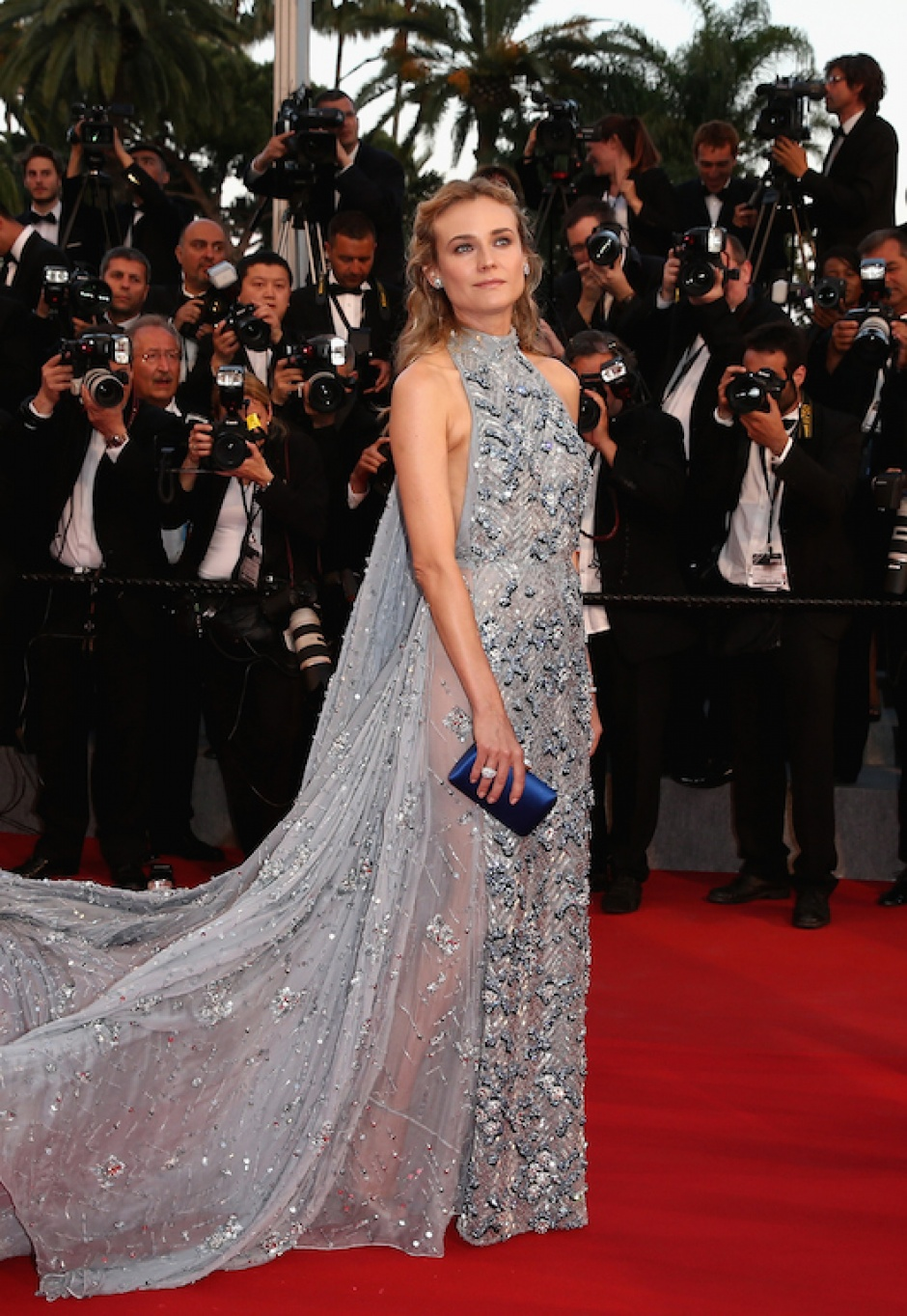 Diane Kruger wearing a Prada gown at the Cannes Film Festival