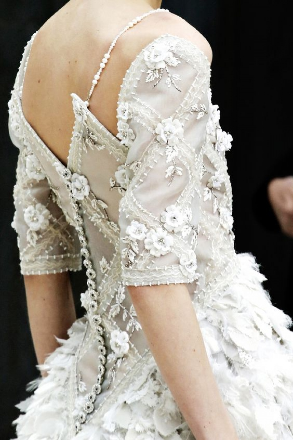 Maison Desrues buttons on Chanel Haute Couture SS14 Look